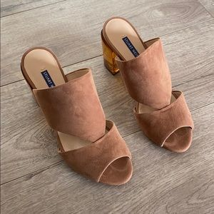 Stuart Weitzman Suede Cecile Sandals - Like New